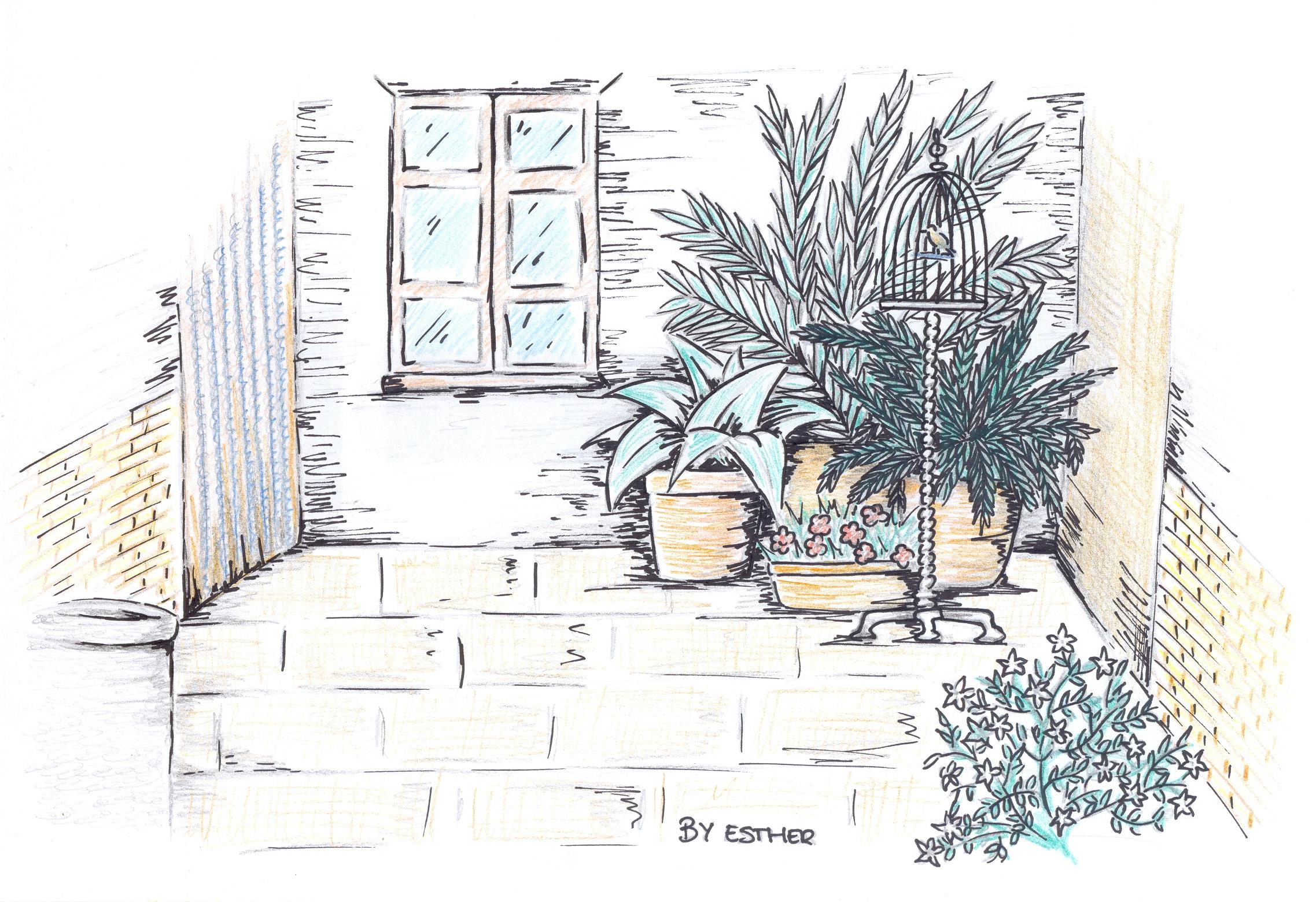 Dibujos para colorear patio casa ideas creativas sobre for Casa para patio ninos