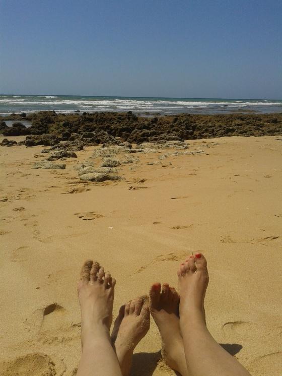 Cala Albufeira baja mar